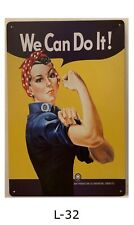 Tin Sign We Can Do It Rosie The Riveter Wwii Retro Metal Signs Plaques Bar Decor