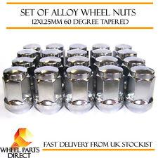 Alloy Wheel Nuts (20) 12x1.25 Bolts Tapered for Nissan Navara [Mk1] 97-04