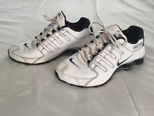 Nike Shox NZ Men's Running Athletic Shoes Size 9.5 White Black Silver 377341-190