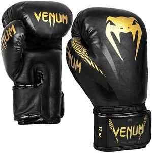 Venum Impact Boxing Gloves - Gold/Black - 14 Oz