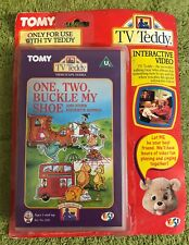 Tomy Tv Teddy - One, Two, Buckle My Shoe VHS