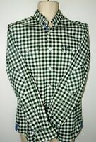 Crew Clothing Green Thick Cotton Check Shirt long sleeve elbow patch Size S