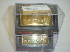 DIMARZIO DP190 & DP191 Air Classic Neck & Bridge Pickup SET GOLD REGULAR SPACED