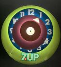 MCM PETER MAX STYLE 7 UP MID CENTURY POP ART CLOCK 16 5  Read Description