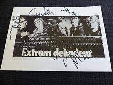 ROXY MUSIC signed Autogramme auf 15x20 cm Karteikarte InPerson SELTEN