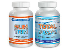 Slim Trim and Total Cleanse Maximum Diet Rapid Weight loss pills Month Fat Burn
