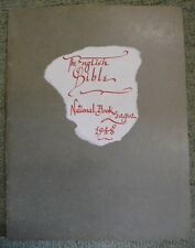 Book List 66: The English Bible with Engraving on front by Eric Gill