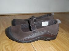 MINT Girls Merrell Plaza Bandeau Kid Brown Suede Leather Mary Jane Shoes Size 11