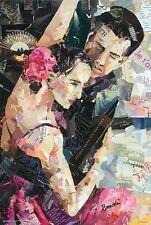 "INES KOUIDIS - PARISIENNE TANGO - 91 x 61 cm 36"" x 24"" REPRODUCTION ART POSTER"