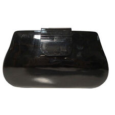 KARDASHIAN KOLLECTION BLACK RESIN HARDCASE CLUTCH