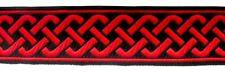 1,15€/m 10m keltischer Knoten 35mm breit Farbe: Rot-Schwarz