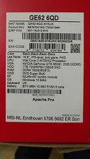 MSI Gaming GE62-6QD-815UK Apache Pro 2.6GHz i7-6700HQ 15.6 FullHD Nero