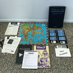 Ultima 7 VII The Black Gate Vintage 3.5 Disc PC Game W/ Box Inserts Cloth Map