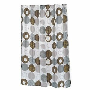 """Carnation Home Extra Long """"Madison"""" Fabric Shower Curtain"""