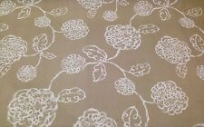 """MAGNOLIA HOME ADELE LINEN BEIGE FLORAL TOILE FURNITURE FABRIC BY THE YARD 54""""W"""