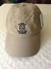 New Elmhurst Country Club Golf Hat Adjustable Khaki/Black Logo Cool Max Brand