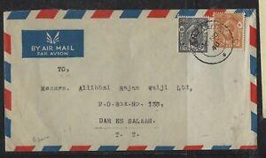 ZANZIBAR COVER (P2304B) 1948 SULTAN 10C+20C A/M COVER TO DAR ES SALAAM