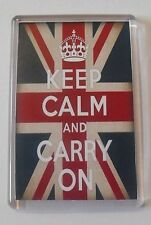 British Flag - Keep Calm and Carry On Magnet