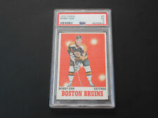 1970-71 TOPPS HOCKEY BOBBY ORR CARD # 3 PSA GRADED 5 EX