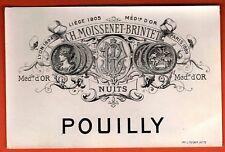 Etiquette de Vin - Bourgogne - Nuits - Pouilly - Ch.Moissenet-Brintet -Réf.n°392