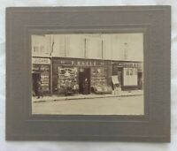 "1880's PARIS FRANCE STOREFRONT "" F. HALL'E "" CABINET CARD PHOTOGRAPH"
