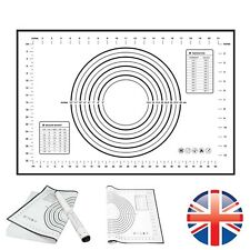 *UK Seller* Large Silicone Fiberglass Baking Rolling Mat Non Stick Cake 60X40cm