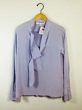 MARC JACOBS Light Purple Neck Tie Silk Blouse Size 2