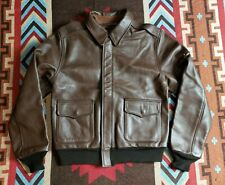 US Authentic A-2 Bomer Military Horsehide Leather Jacket Aero Made in USA