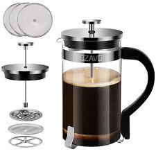 OZAVO Kaffeebereiter Glas Kaffeekanne French Press Kaffee Kocher 1L Edelstahl