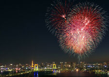 FIREWORKS TOKYO NEW A4 POSTER GLOSS PRINT LAMINATED