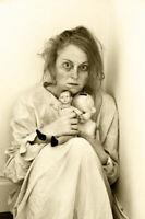 Antique Asylum Doll Lady Photo 157b Odd Strange & Bizarre