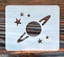 Planet Stars Face Painting Stencil 7cm x 6cm 190micron Washable Reusable