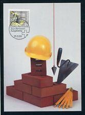 SCHWEIZ Nr.1402 EST BERN 25.8.1989 MAXIMUMKARTE 2.75FR. MAURER (143664)