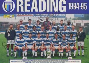 Reading FC - Signed Team Picture - COA (13523)
