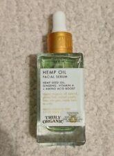 Truly Organic HEMP OIL Facial Serum Ginseng +Amino Acid Boost 1.7oz 50mL New