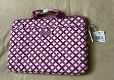 NEW Vera Bradley Neoprene Laptop Case Julep Tulip Hot Pink & White