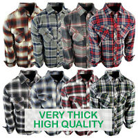 Flannel Plaid Shirt Mens Brawny Buffalo Heavyweight Pockets Long Sleeve True Fit