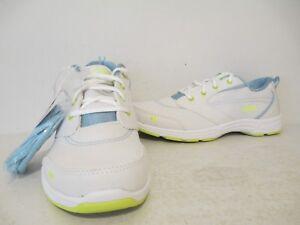 Ryka Womens Teanna Canvas Running Walking Hiking Sneaker White/Lime Sizes 7 - 10