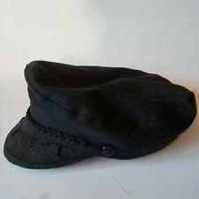 Vintage Black Greek Fisherman's Hat Size 55 6-7/8