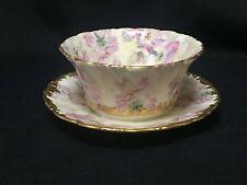 Handpainted Floral Limoges France Porcelain Mayonnaise Bowl - T&V Limoges