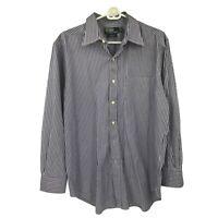 Polo Ralph Lauren Button Down Purple Striped Dress Shirt Mens Size 16 - 32/33