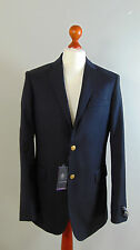 AUSTIN REED Mens Navy Admirals Sailors Single Breasted Suit Blazer Jacket 40L