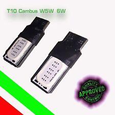 6 LAMPADE A LED PER AUTO T10 W5W COB SMD CANBUS NO ERROR  Lampadine Luce BIANCA