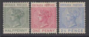 Grenada, Scott 20-22 (SG 30-32), MHR (1p with soiled spot)
