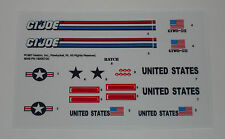 GI Joe Skystorm X Wing Chopper Sticker Decal Sheet