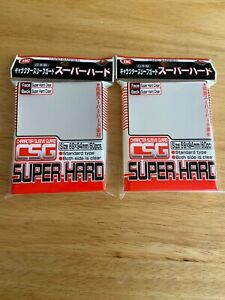 KMC CARD BARRIER Super Hard Clear Standard size Sleeve 69x94mm 120pcs 2 pack USA