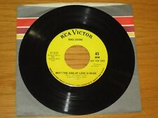 """JAZZ / POP 45 RPM - NINA SIMONE - RCA 47-9532 -""""WHY? (THE KING OF LOVE IS DEAD)"""""""