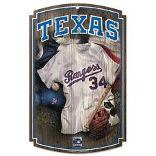 "Texas Rangers Wooden Sign 11"" x 17"" Baseball #34 MLB"
