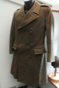 Military WW2 British Warm Weather Great Coat Uniform Army Trench Coat (5493)