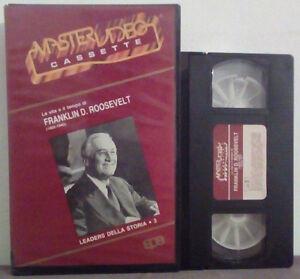 VHS Ita Documentario La Vita e Il Tempo Di FRANKLIN D.ROOSEVELT no dvd cd (V26)